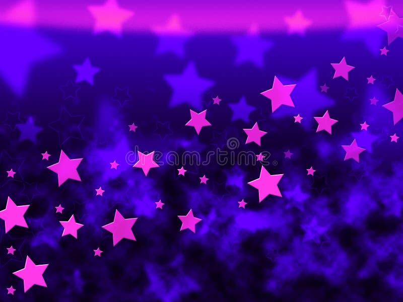 Purpura I Gwiaździsty Gramy główna rolę tło przedstawień Niebiańskiego światło ilustracji
