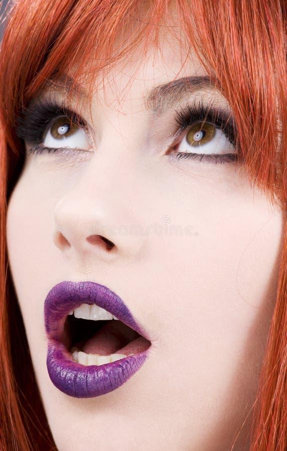 purpura kanter arkivbilder