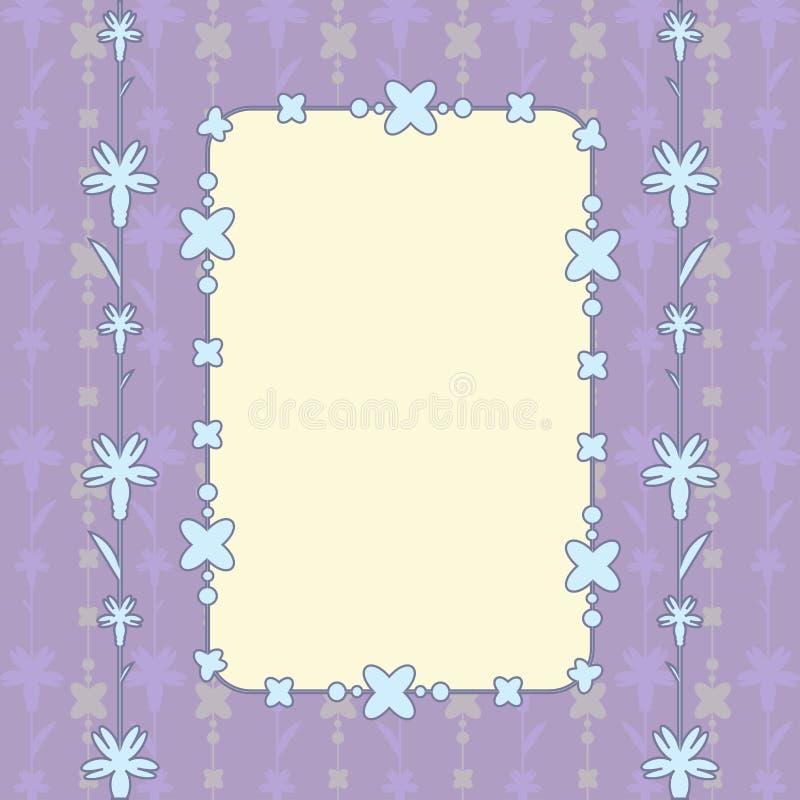 Purpura karciany prostokąt royalty ilustracja