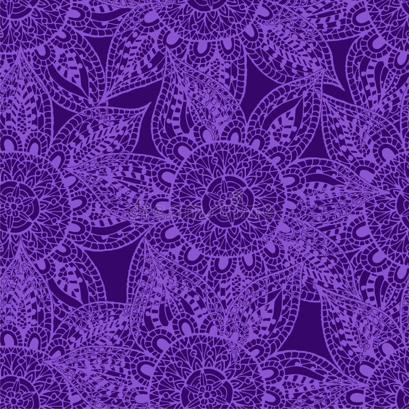 Purpura kontury na purpury tle ilustracja wektor