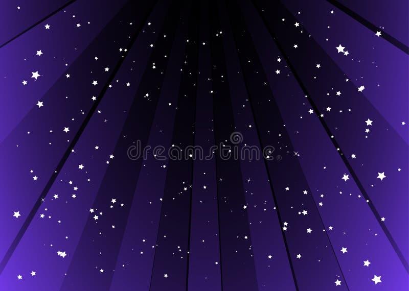 purpura starful band för bakgrund royaltyfri illustrationer