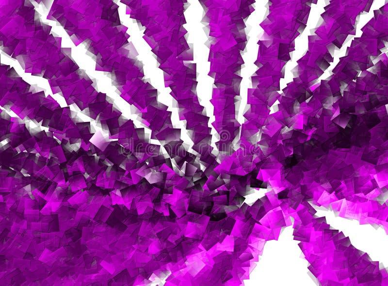 Purpura sześcianów Deseniowi zawijasy ilustracji