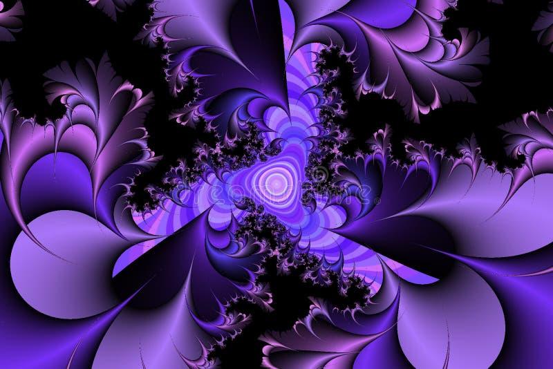purpura taggar royaltyfri illustrationer