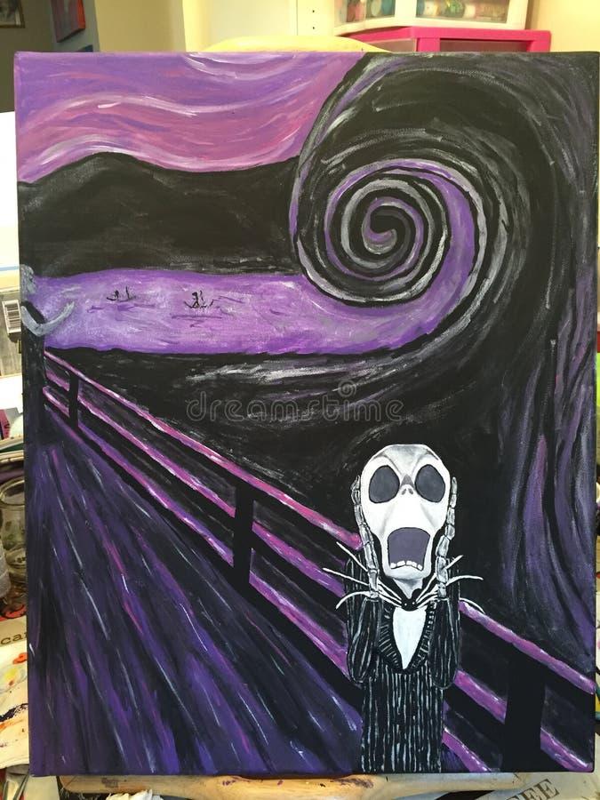 Purpura wrzask ilustracja wektor