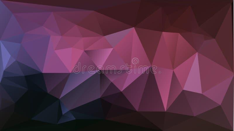 Purpurfärgad bakgrund för rosa färgabstrakt begrepptriangel royaltyfri illustrationer