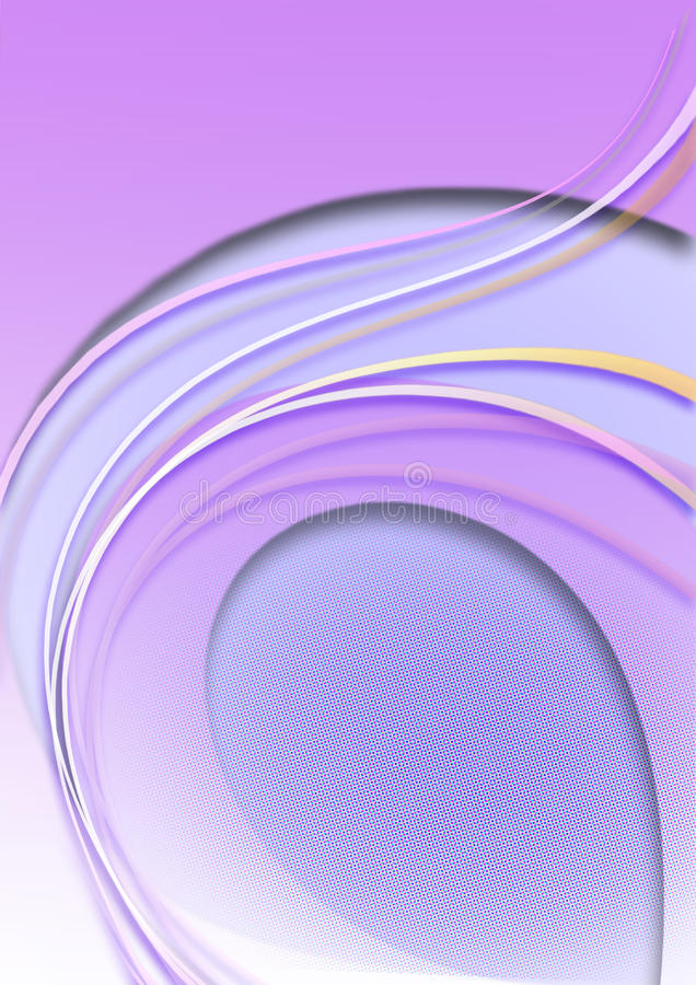 Purpurfärgad bakgrund med lila remsor för andför färgovalbuktade coloredroyaltyfri illustrationer