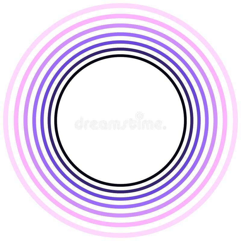 Purpurfärgad explosioncirkelram vektor illustrationer