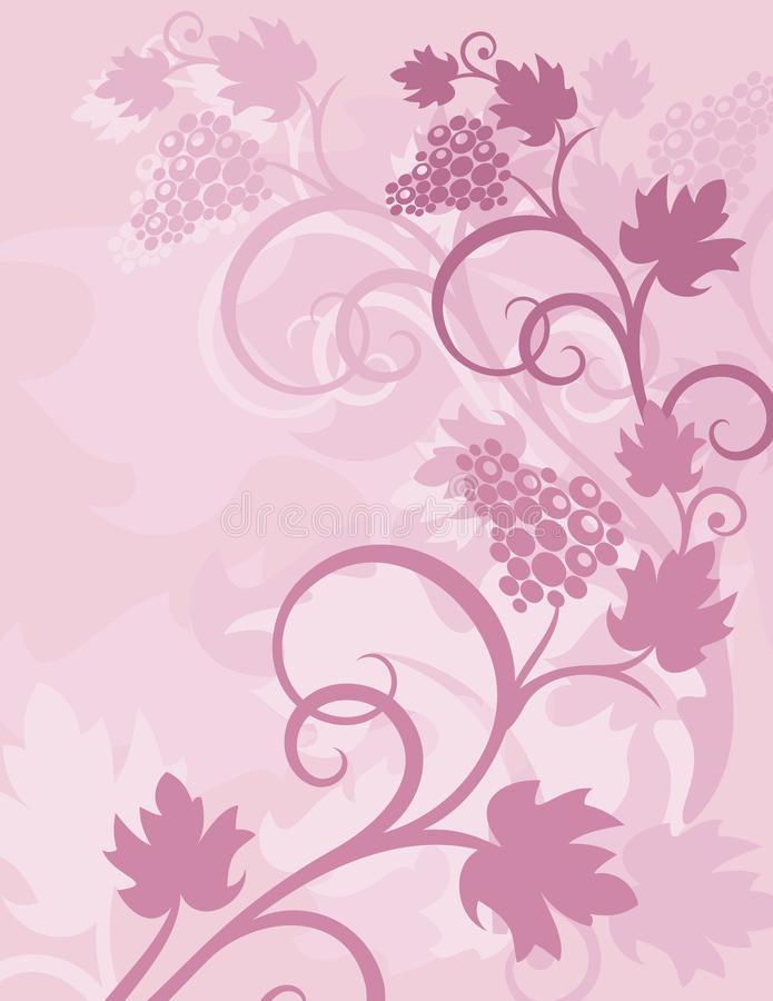 Purpurfärgad färgrik abstrakt blomma och linje stor bakgrund vektor illustrationer