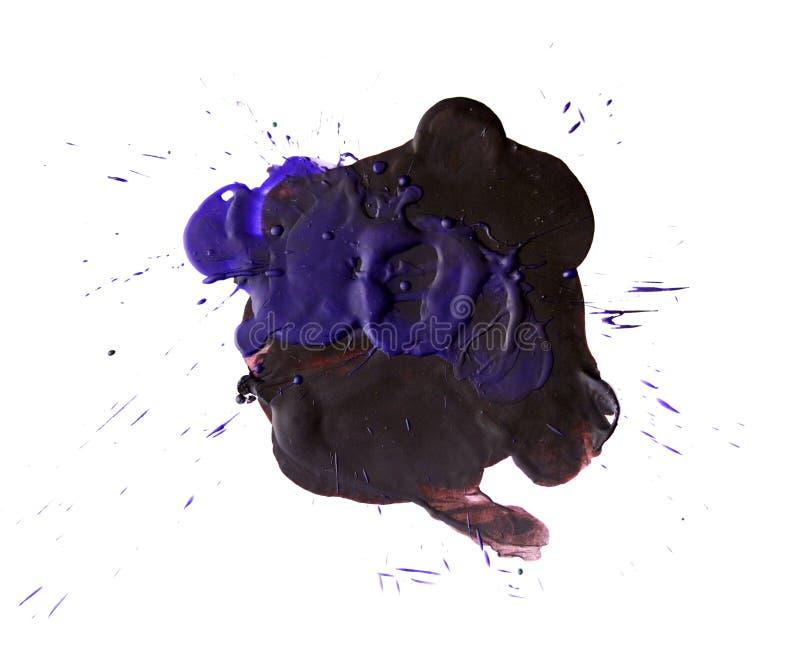 Purpurfärgad fläck av det varma vaxet royaltyfri bild