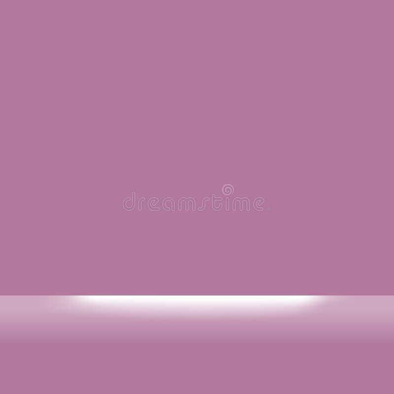 Purpurfärgad fyrkant eller mjuka rosa pastellfärgade färger och vitt ljust sken för bakgrund, plan tapet för purpurfärgade  royaltyfri illustrationer