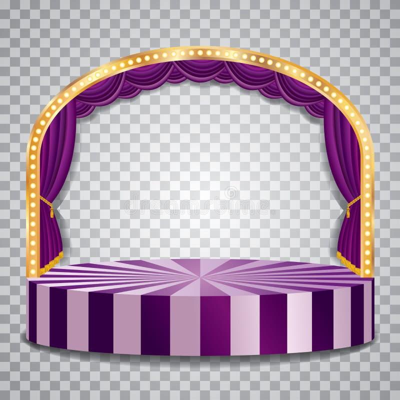 Purpurfärgad genomskinlig elipse vektor illustrationer