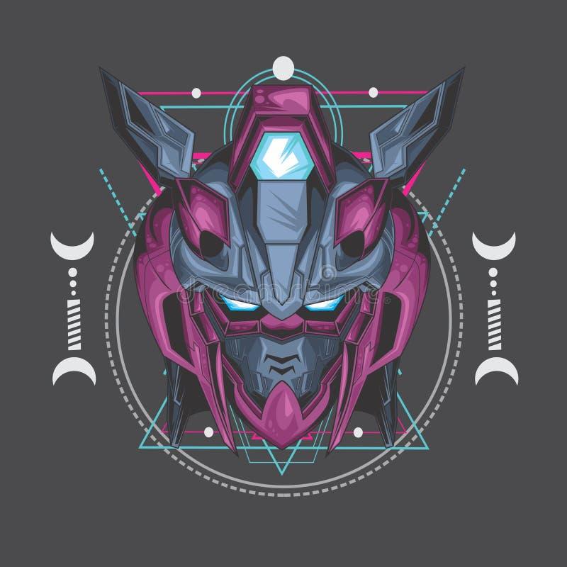 purpurfärgad giftgundam och sakral geometri vektor illustrationer
