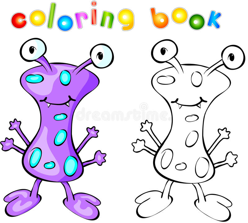 Purpurfärgad gigantisk färgläggningbok vektor illustrationer