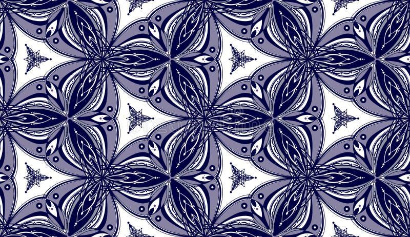 Purpurfärgad kalejdoskopmodell - Tileable royaltyfri foto
