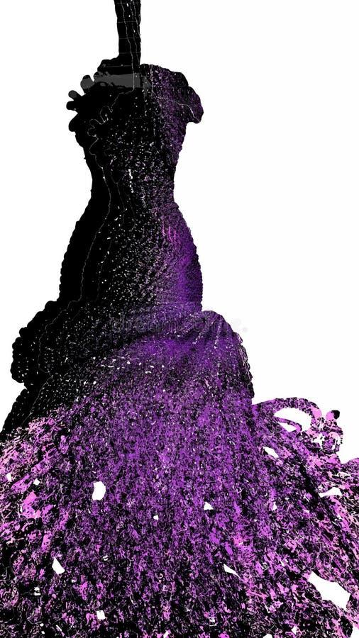 Purpurfärgad konturskyltdocka med en fluffig kjol royaltyfri fotografi