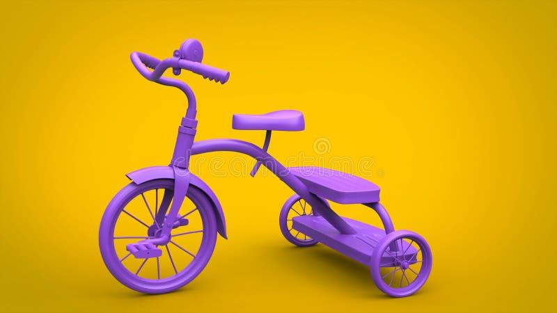 Purpurfärgad leksaktrehjuling för nätt tappning vektor illustrationer
