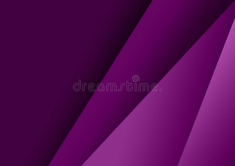Purpurfärgad linjär texturerad bakgrundsdesign för tapet stock illustrationer