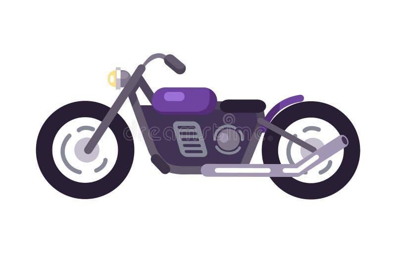 Purpurfärgad motoriserad mopedsymbol för sparkcykel design vektor illustrationer