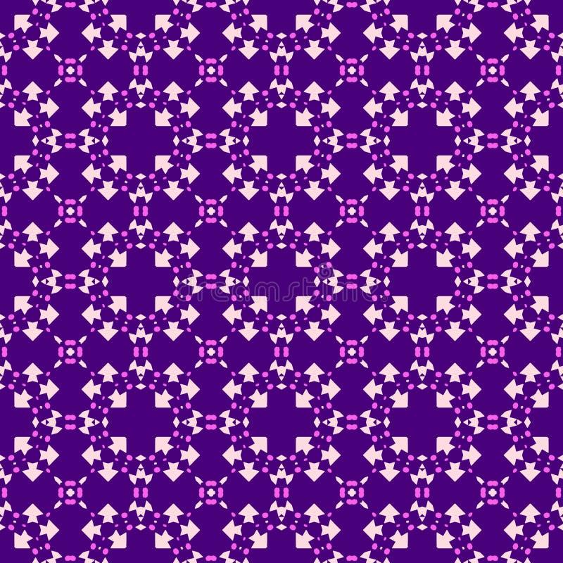 Purpurfärgad och violett tracery för marockansk sömlös modell - stock illustrationer