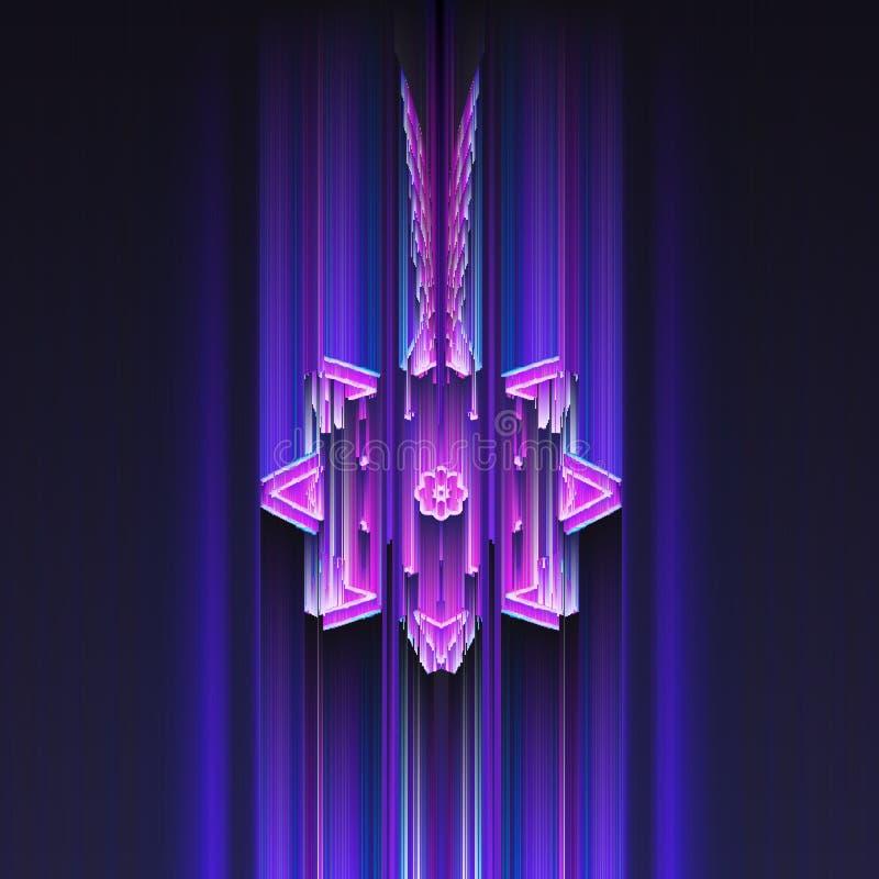 Purpurfärgad ogenomskinlighet royaltyfri illustrationer