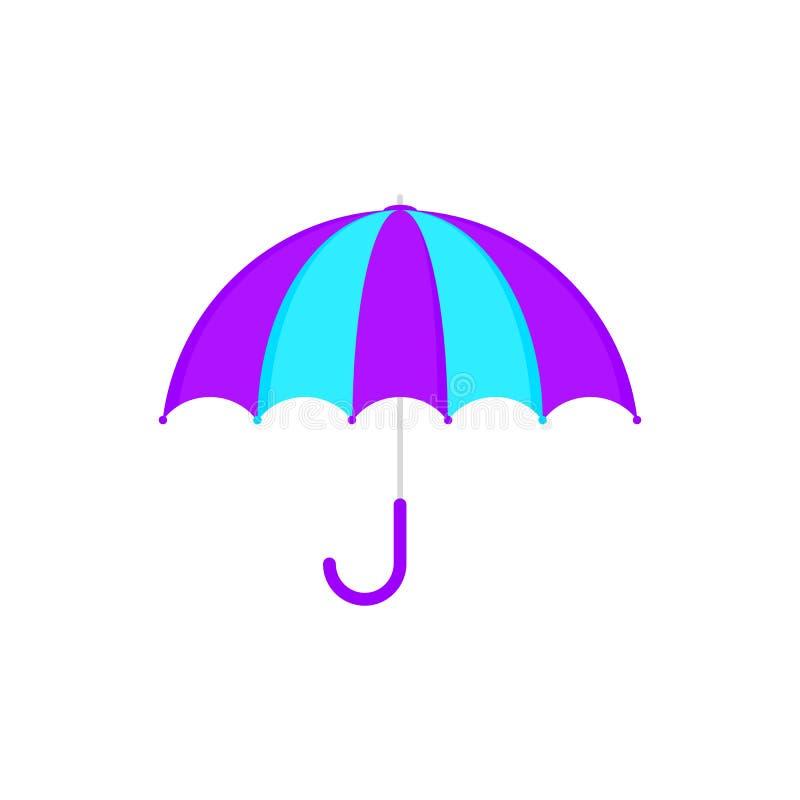 Purpurfärgad paraplysymbol för sommar stock illustrationer