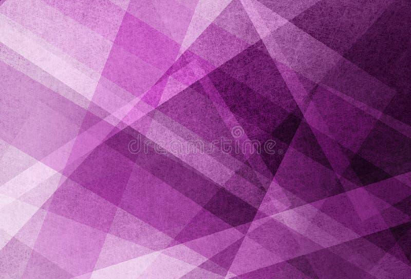 Purpurfärgad rosa färg- och vitfärgbakgrund planlägger med band och vinklar i geometrisk modell vektor illustrationer