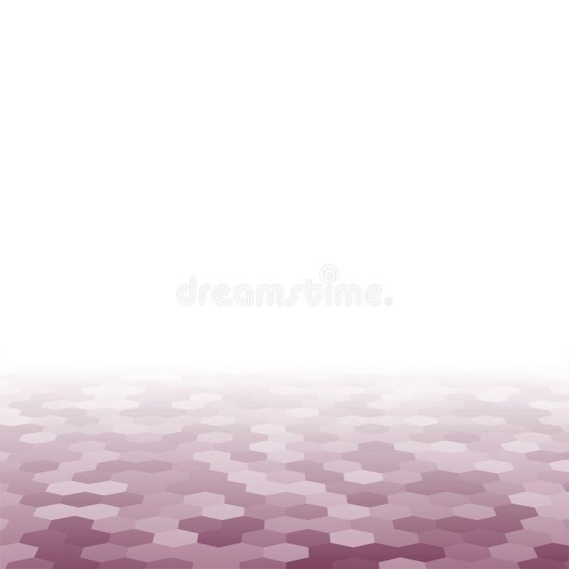 Purpurfärgad slumpmässig fyrkantig mosaik- eller tegelplattabakgrund vektor illustrationer