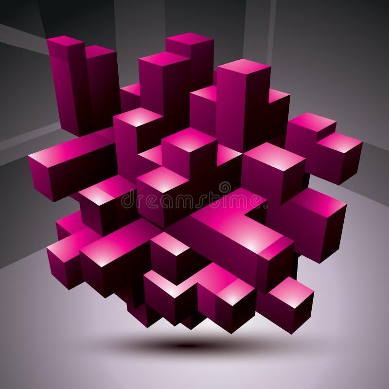 Purpurfärgad stilfull arkitektonisk constructio för modern teknologi vektor illustrationer