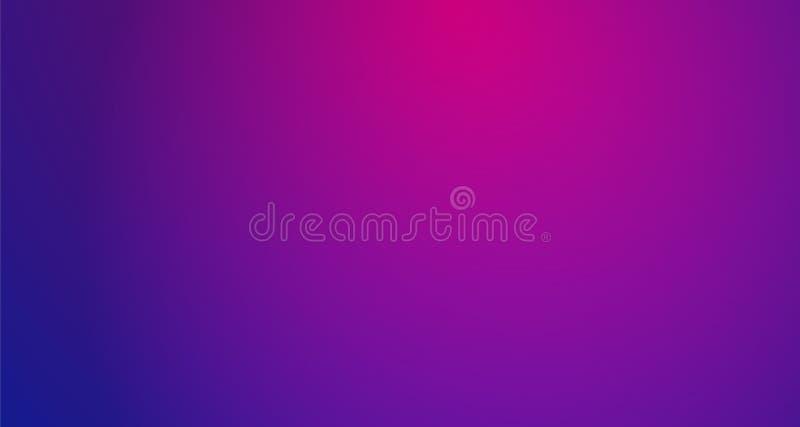 Purpurfärgad suddig vektorbakgrund med rastrerad effekt Slät rosa färg- och violetlutning stock illustrationer