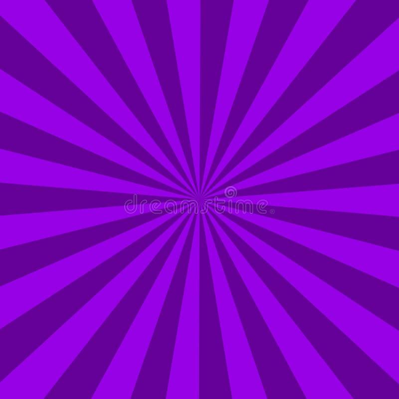 Purpurfärgad sunburst abstrakt textur purpurfärgad skinande starburstbakgrund abstrakt sunburst effektbakgrund stock illustrationer