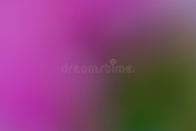 Purpurfärgad, violett och grön slät och suddig tapet/bakgrund arkivfoto
