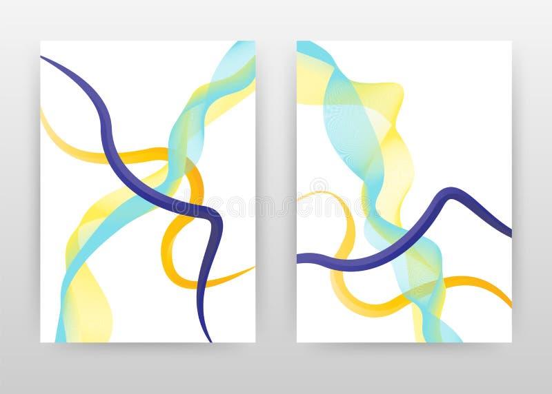 Purpurfärgade gröna gula vinkade linjer texturdesign för årsrapporten, broschyr, reklamblad, affisch Vinkade linjer texturerar ba royaltyfri illustrationer