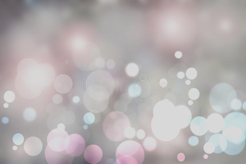 Purpurfärgade ljusa abstrakta Bokeh Mall för din produktskärm royaltyfria bilder