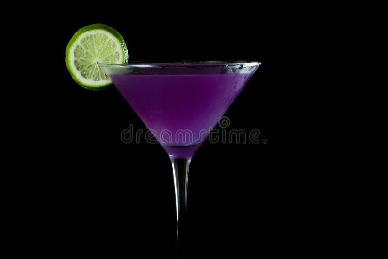 Purpurfärgade martini arkivbilder