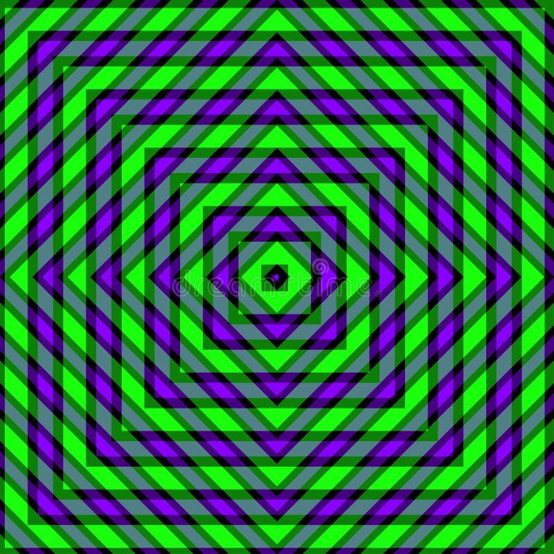 Purpurfärgade och gröna linjer gör sammandrag den ljusa geometriska bakgrundsillustrationen royaltyfri illustrationer