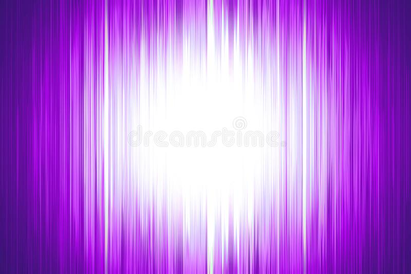 Purpurfärgade suddiga band med en vit strålkastare royaltyfri illustrationer