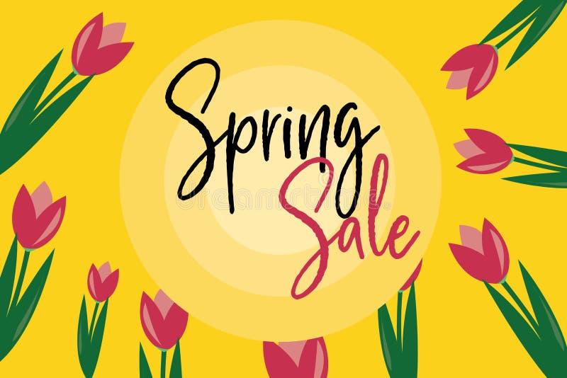 Purpurfärgade Tulip Spring Sale arkivfoto