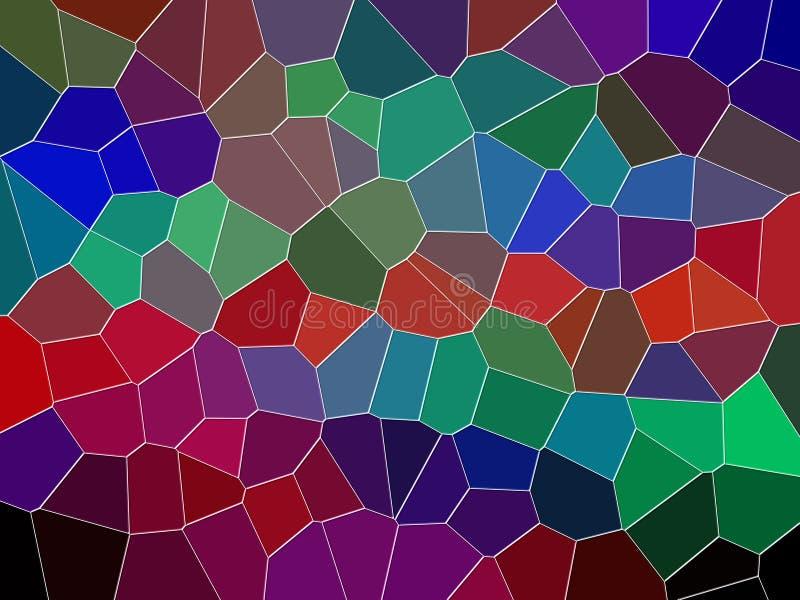 Purpurfärgat mörkt - röd grön geometribakgrund, diagram, abstrakt bakgrund och textur stock illustrationer