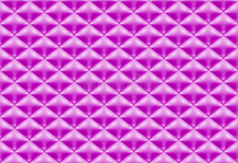 Purpurfärgat vadderat tyg för sömlös modell stock illustrationer