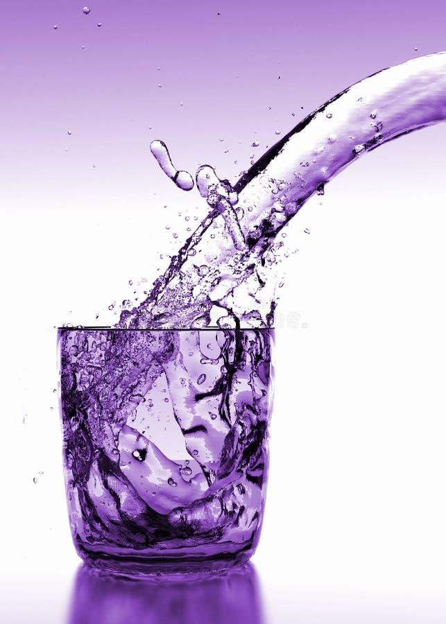 Purpurfärgat vattenexponeringsglas Shinny bakgrund royaltyfri illustrationer