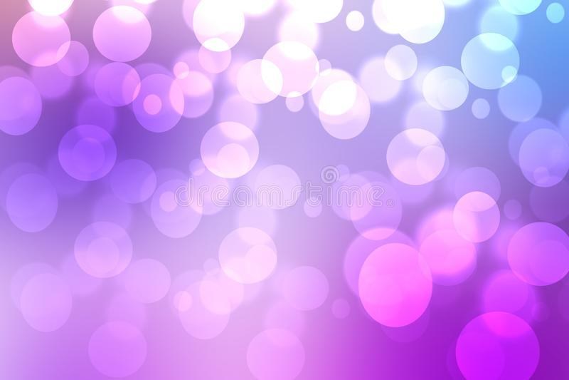 Purpurf?rgad rosa bakgrundstextur f?r abstrakt lutning med suddiga bokehcirklar och ljus Utrymme f?r design H?rlig bakgrund stock illustrationer