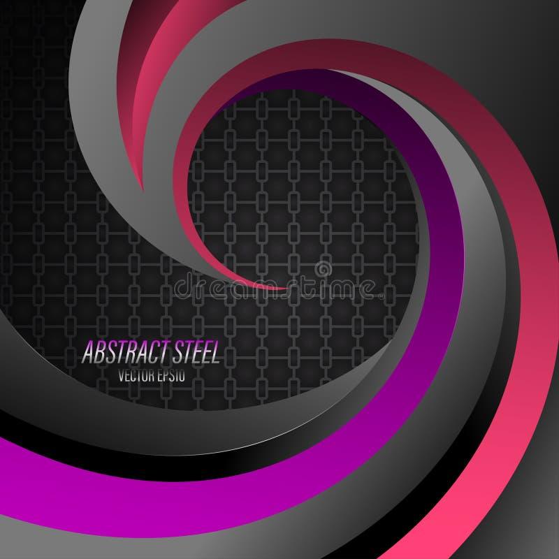 Purpurowa abstrakcjonistyczna stal kształtuje scena wektor ilustracji