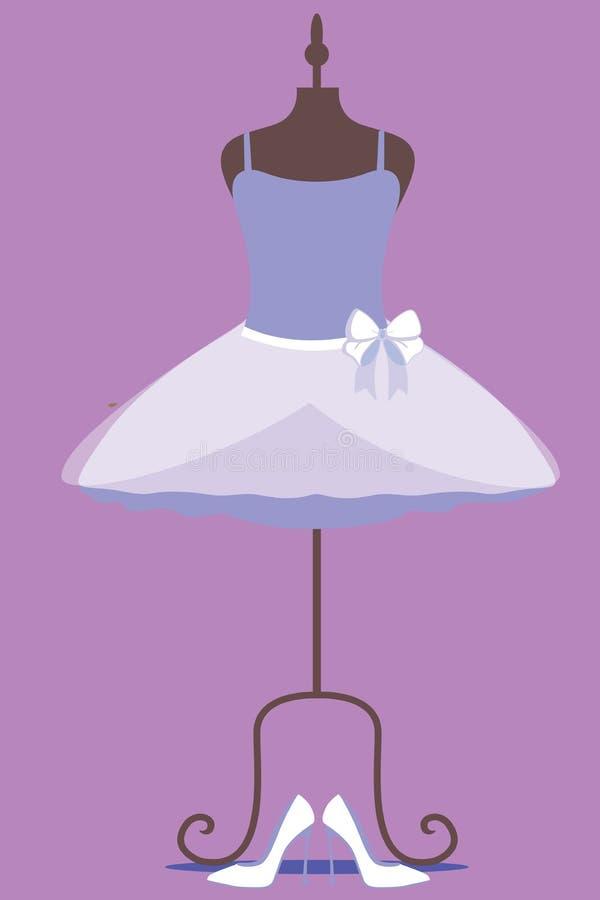 Purpurowa balet sukni kobieta royalty ilustracja