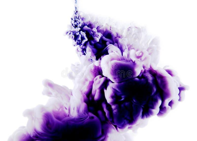 Purpurowa biała abstrakcjonistyczna sztuka obrazy stock