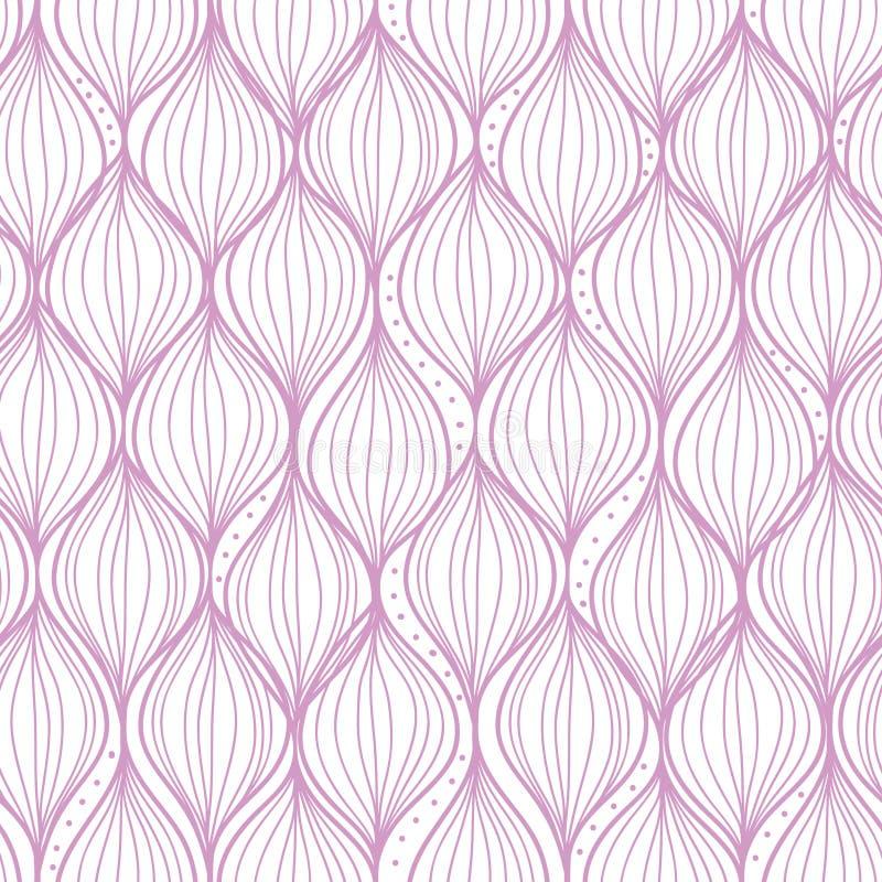 Purpurowa cyma paskuje bezszwowego deseniowego tło royalty ilustracja