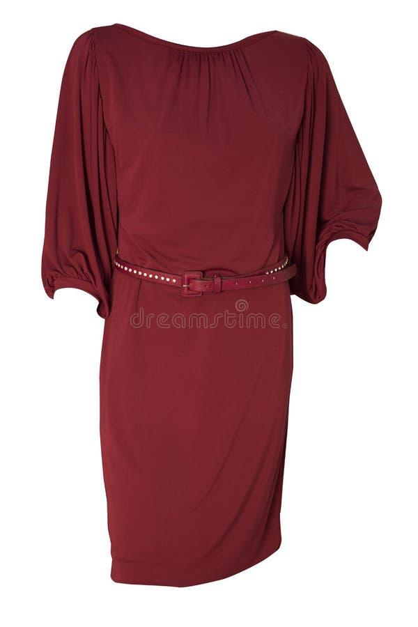 Purpurowa czerwieni suknia zdjęcia stock
