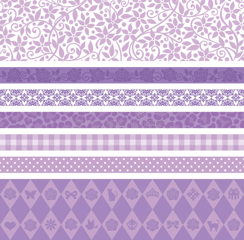 Purpurowa dekoraci linia ilustracji