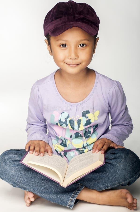 Purpurowa dziewczyna obraz stock