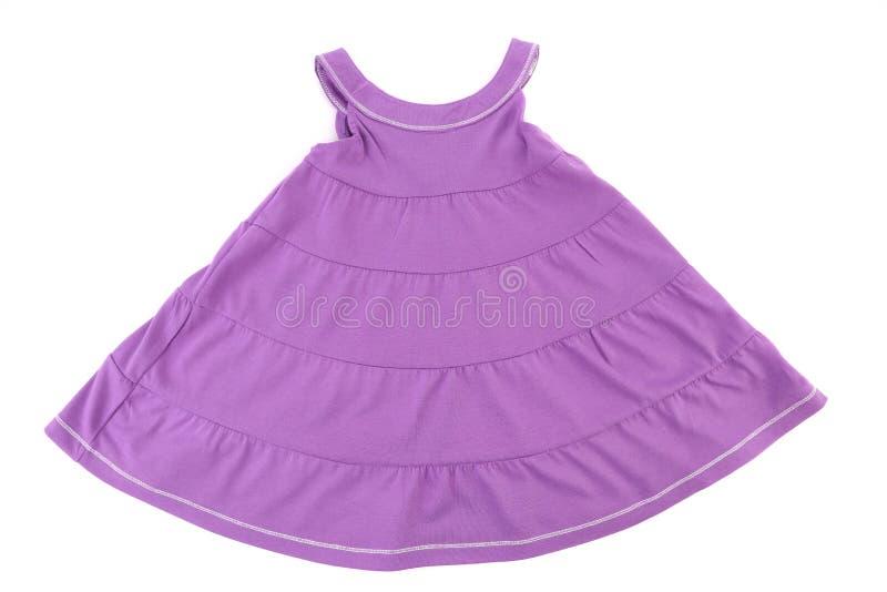 Purpurowa dziewczyny suknia. zdjęcie royalty free