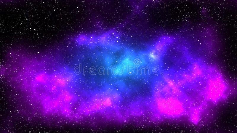 Purpurowa i błękitna mgławica zdjęcia stock